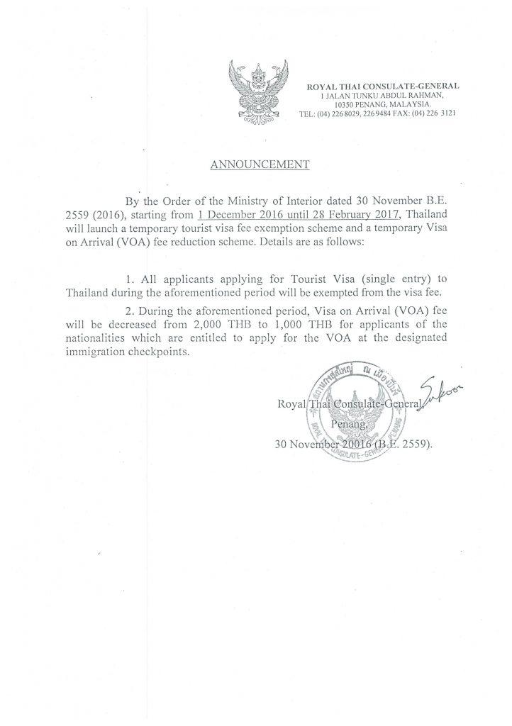Thai Visa in Penang Malaysia