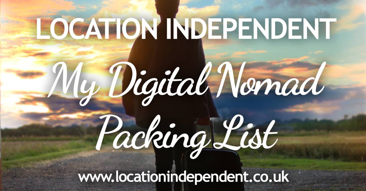 My digital nomad packing list