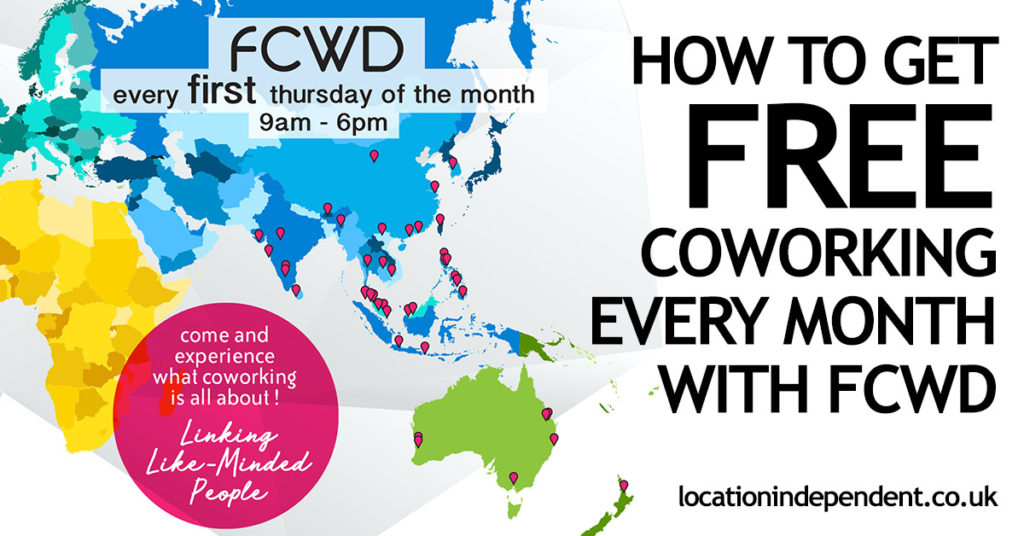Get FREE Coworking Every Month with FCWD || Location Independent