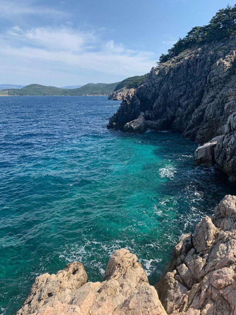 Coast of Krk Island