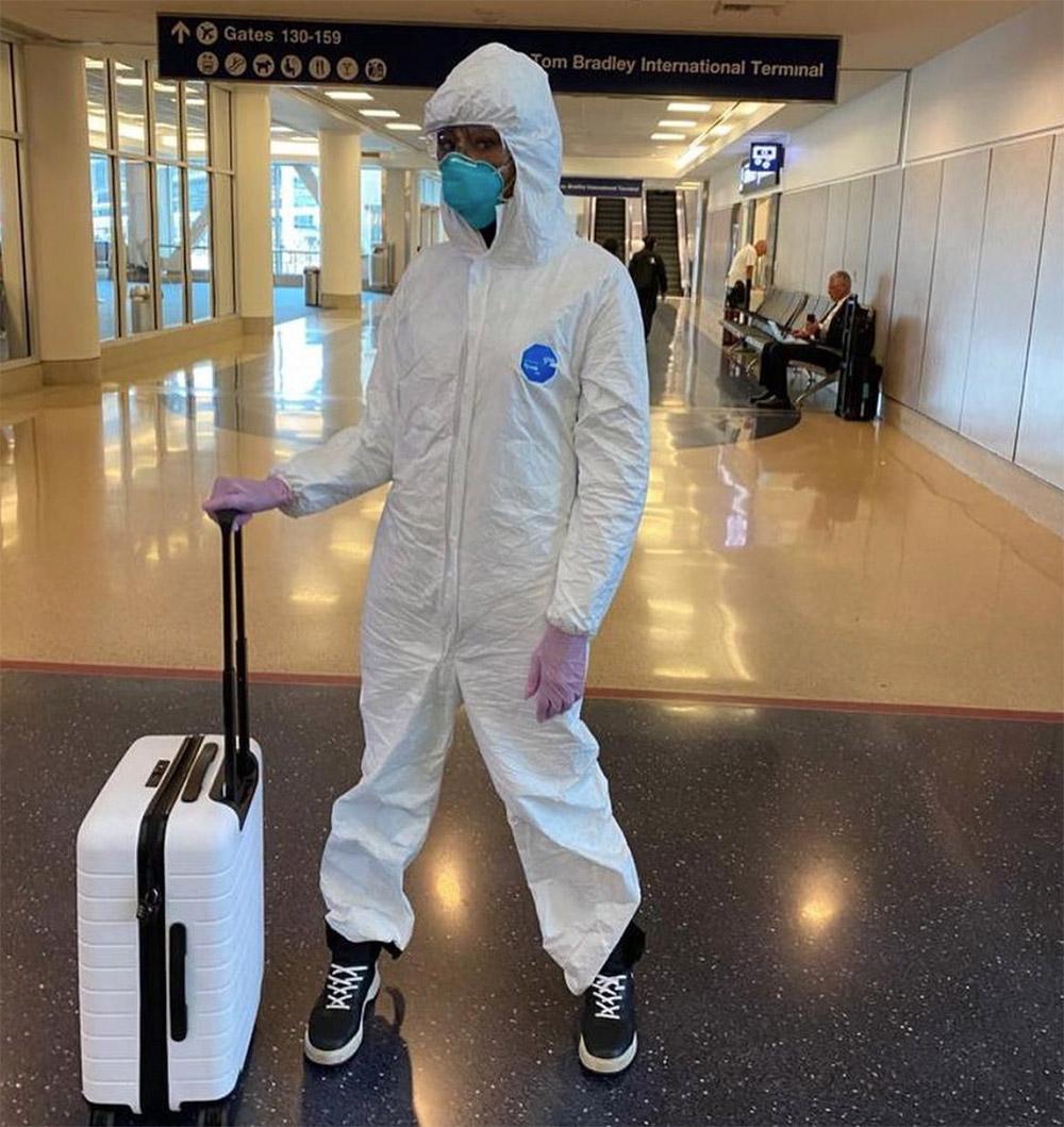 Naomi in Biohazard gear
