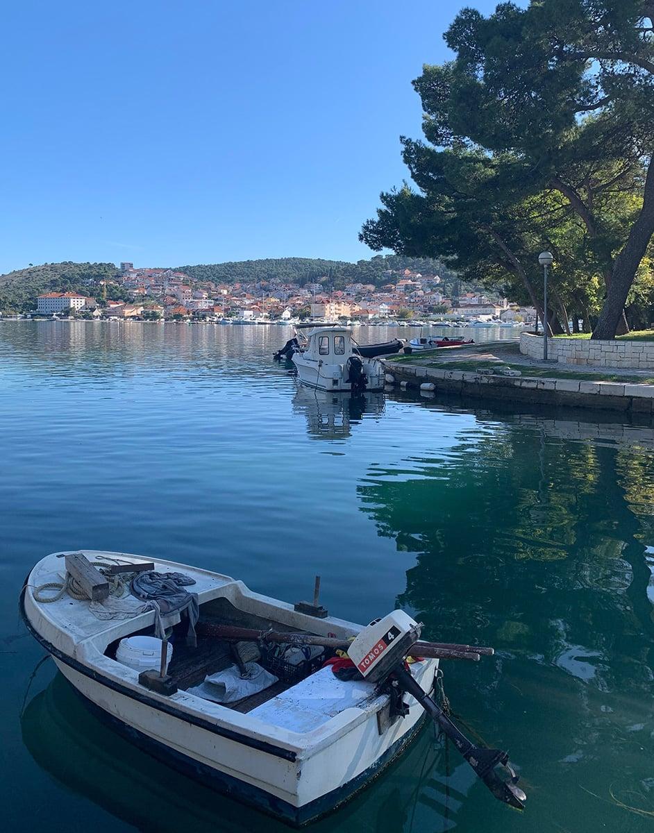 Boat in the dock at Trogir